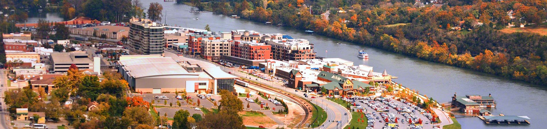 What Branson Landing looks like if you view it from the sky.